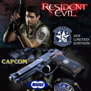 RESIDENT EVIL APOCALYPSE - PISTOLET OFFICIEL CHRIS REDFIELD S.T.A.R.S. 15TH ANNIVERSARY