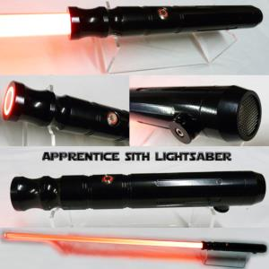 "STAR WARS - SABRE LASER ""SITH APPRENTICE LIGHTSABER"" (LAME AMOVIBLE-PRACTICAL-HANDCRAFTING)"