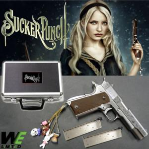 "SUCKER PUNCH - PISTOLET BABYDOLL METAL CHROME AVEC RETOUR DE CULASSE + "" CHARMS "" (LIMITED EDITION)"