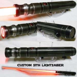 "STAR WARS - SABRE LASER ""SITH WEATHERED"" (PRACTICAL- LAME AMOVIBLE & COULEUR INTERCHANGEABLE)"