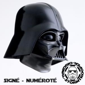 STAR WARS - DARK VADOR CASQUE MOULAGE D'ORIGINE OFFICIEL SIGNATURE EDITION ET NUMEROTE