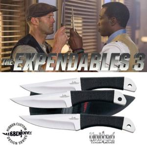 THE EXPENDABLES 3 - JEUX DE 3 COUTEAUX A LANCER, THROWING KNIFE SET OFFICIELS (UNITED CUTLERY)