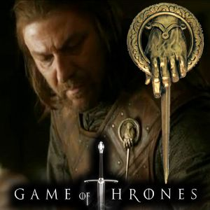 GAME OF THRONES - MAIN DU ROI BADGE OFFICIEL