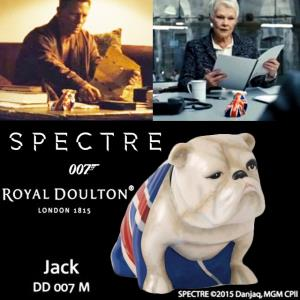 JAMES BOND : SPECTRE - JACK BULLDOGS OFFICIEL ECHELLE 1/1 (DD 007 M - ROYAL DOULTON LONDON 1815)