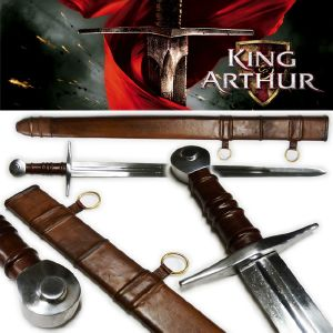 KING ARTHUR - SWORD FIGHTING DELUXE + FOURREAU CUIR MOULE (PRACTICAL - EPEE DE FRAPPE)