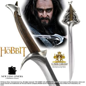 "THE HOBBIT - EPEE ""ORCRIST"" DE THORIN OFFICIELLE + SUPPORT METAL DELUXE (VERSION NOBLE COLLECTION)"