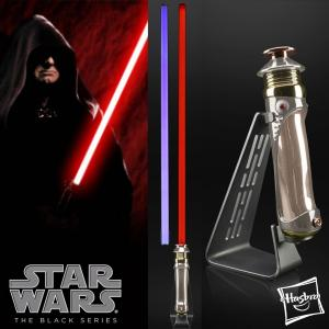 STAR WARS - SABRE LASER DARK SIDIOUS (EMPEROR PALPATINE) FX ELITE AVEC LAME AMOVIBLE ET 2 COULEURS DE LAME (HASBRO - THE BLACK SERIES)
