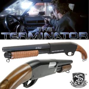 TERMINATOR - SHOTGUN KYLE OFFICIEL TOUT METAL ET BOIS VERITABLE (FUSIL A POMPE M870 S&T SAWED OFF)