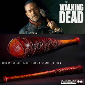 "WALKING DEAD (THE) - BATTE DE BASEBALL SANGLANTE ""LUCILLE"" DE NEGAN OFFICIELLE (MC FARLANE PVC)"