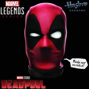 DEADPOOL - MASQUE TETE INTERACTIF ELECTRONIQUE OFFICIEL ECHELLE 1/1 (HASBRO - MARVEL LEGENDS)