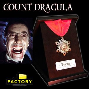 COUNT DRACULA - MEDAILLON OFFICIEL LIMITED EDITION BRONZE ET OR MASSIF