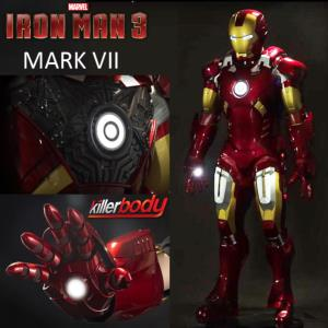 IRON MAN 3 - ARMURE COMPLETE MARK VII OFFICIELLE AVEC ECLAIRAGE LEDS (MARVEL - KILLERBODY)