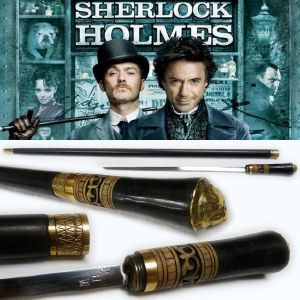 SHERLOCK HOLMES - CANNE EPEE OFFICIELLE (IMPORT INDIA)