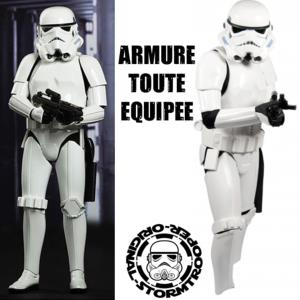 STAR WARS - STORMTROOPER ARMURE COMPLETE TOUTE EQUIPEE (CASQUE + ARMURE + E11 BLASTER + HOLSTER)