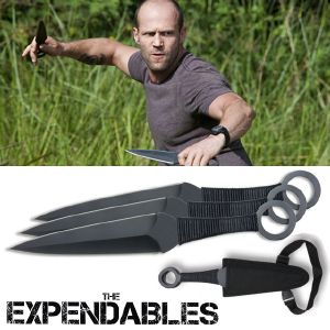 THE EXPENDABLES - STATHAM SET DE 3 KUNAI OFFICIEL (UNITED CUTLERY)