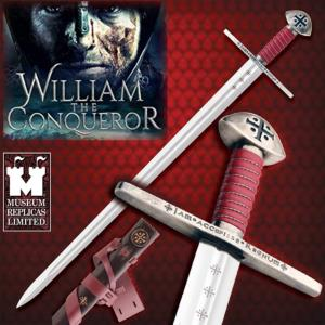 WILLIAM THE CONQUEROR - EPEE OFFICIELLE AVEC FOURREAU CUIR DELUXE (WINDLASS STUDIOS)