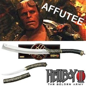 HELLBOY II, THE GOLDEN ARMY - HELLBOY SWORD LIMITED EDITION EXCLUSIF AFFUTEE + DAGUE BONUS OFFERTE