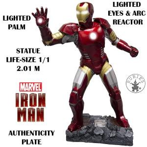 IRON MAN - STATUE LIFE SIZE ECHELLE 1:1 SUPREME EDITION (TAILLE REELLE / MARVEL BY RUBIE'S)