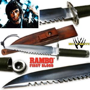 RAMBO I - POIGNARD REPRODUCTION AUTHENTIQUE VERSION POLI (PRACTICAL MAITRE FORGERON - NO LIMITS)