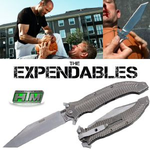 THE EXPENDABLES - STATHAM COUTEAU KNIFE OFFICIEL LIMITED EDITION (HTM KNIVES MADE IN USA)
