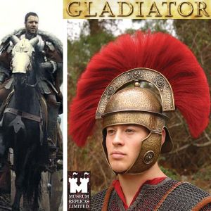 GLADIATOR - CASQUE OFFICIER ROMAIN VERSION DELUXE (WINDLASS STUDIOS)