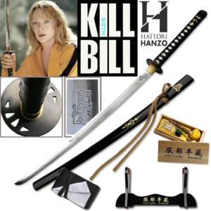 KILL BILL - THE BRIDE (LA MARIEE) KATANA : PACK OFFICIEL HATTORI HANZO SABRE FORGE MAIN (PRACTICAL)