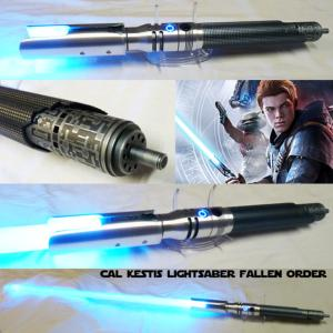 STAR WARS - SABRE LASER CAL KESTIS (FALLEN ORDER) CUSTOM LIGHTSABER (FAIT MAIN - LAME AMOVIBLE - PRACTICAL)