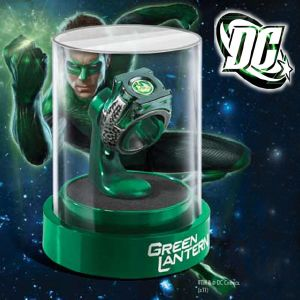 GREEN LANTERN - ANNEAU & SUPPORT OFFICIEL (DC COMICS - THE NOBLE COLLECTION)