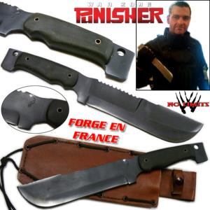 THE PUNISHER 2 (WAR ZONE) - COUTEAU REPRODUCTION AUTHENTIQUE (VERSION NOIR - FORGERON - NO LIMITS)