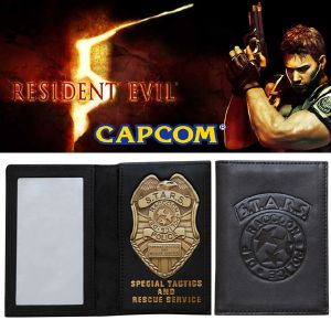 RESIDENT EVIL - S.T.A.R.S. BADGE & LEATHER WALLET OFFICIELLES