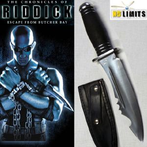 RIDDICK (THE CHRONICLES) - POIGNARD REPRODUCTION AUTHENTIQUE (FAIT MAIN - ARTISAN FORGERON FRANCAIS)