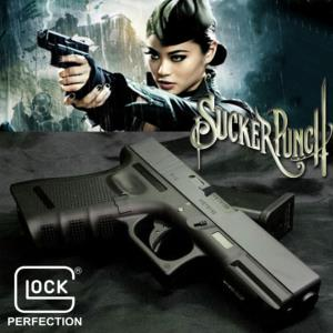 SUCKER PUNCH - PISTOLET AMBER GLOCK 19 GEN3 OFFICIEL METAL & ABS AVEC RETOUR DE CULASSE