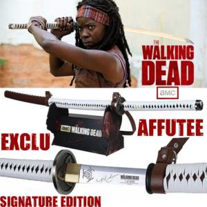 WALKING DEAD (THE) - SABRE MICHONNE OFFICIEL SIGNATURE EDITION AVEC LAME EXCLUSIVE AFFUTEE TRANCHANT