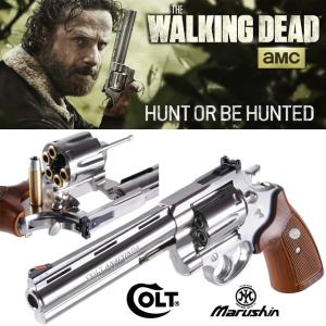 WALKING DEAD (THE) - RICK GRIMES REVOLVER COLT 44 MAGNUM CHROME OFFICIEL