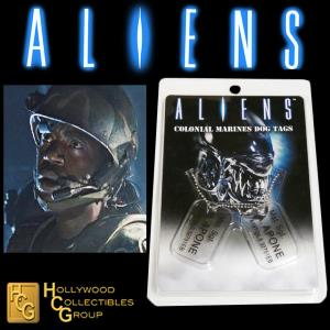 ALIENS - PLAQUES IDENTITE COLONIAL MARINES MST. SGT. A. APONE OFFICIELLES ECHELLE 1:1 (DOG TAG)