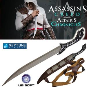ASSASSIN'S CREED ALTAIR'S CHRONICLES - DAGUE DE COMBAT OFFICIELLE + FOURREAU CUIR (UBISOFT)