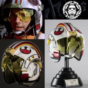 STAR WARS - CASQUE MOULAGE D'ORIGINE LUKE SKYWALKER OFFICIEL SIGNATURE EDITION AVEC SUPPORT DELUXE