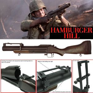 HAMBURGER HILL - M79 GRENADE LAUNCHER OFFICIEL TOUT EN METAL ET BOIS VERITABLE