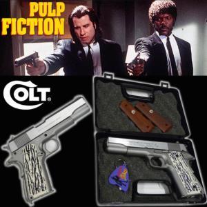 Pulp fiction pistolet officiel tout metal avec retour de culasse mallette porte cles officiel - Porte monnaie pulp fiction ...