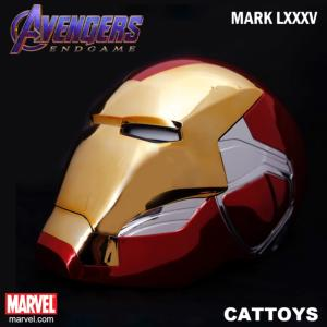 AVENGERS: ENDGAME - CASQUE INTEGRAL IRON MAN MARK LXXXV OFFICIEL OUVERTURE MOTORISEE & LEDS (MARVEL - CATTOYS)