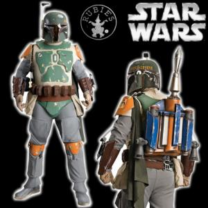 STAR WARS - BOBA FETT SUPREME COSTUME OFFICIEL + BLASTER RIFLE (RUBIE'S COLLECTOR)