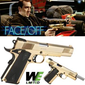 VOLTE FACE (FACE OFF) - PISTOLET 1911 CUSTOM PLAQUE OR 18 K LIMITED EDITION