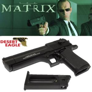 MATRIX - PISTOLET OFFICIEL AGENT SMITH FULL-AUTO AVEC RETOUR DE CULASSE + CARTOUCHE CO2