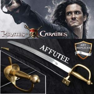 PIRATES DES CARAIBES - REPRODUCTION SABRE WILL TURNER AFFUTE (PRACTICAL - VERSION ART REPLICAS)