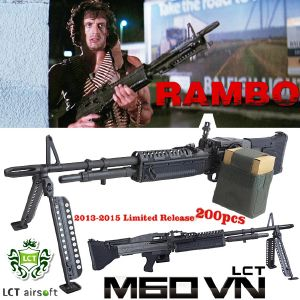 RAMBO I - MITRAILLEUSE M60VN EN METAL TOUT AUTOMATIQUE ULTRA LIMITED EDITION (LCT STEEL AEG)