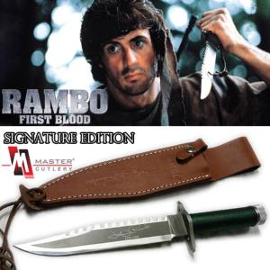 RAMBO I - POIGNARD OFFICIEL SIGNATURE EDITION (MASTER CUTLERY - HOLLYWOOD COLLECTIBLES GROUP)