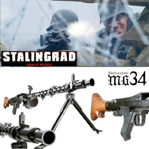 STALINGRAD (ENEMY AT THE GATES) - MITRAILLEUSE MG34 EN METAL TOUT AUTOMATIQUE LIMITED EDITION