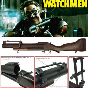 WATCHMEN - M79 GRENADE LAUNCHER OFFICIEL TOUT EN METAL ET BOIS VERITABLE