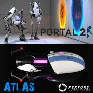 PORTAL 2 - APERTURE SCIENCE HANDHELD PORTAL DEVICE GUN VERSION ATLAS LIMITED EDITION