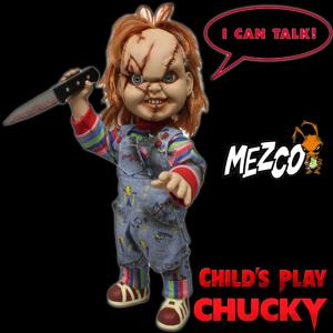 CHUCKY - AUTHENTIC MOVIE PROP REPLICA TAILLE 1/1 OFFICIELLE (PUPPET - MEZCO)